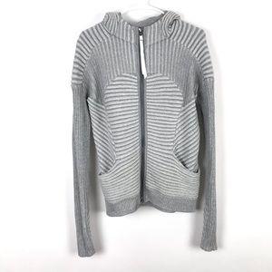 Lululemon Embrace Hoodie Knit Gray Zip Up Jacket